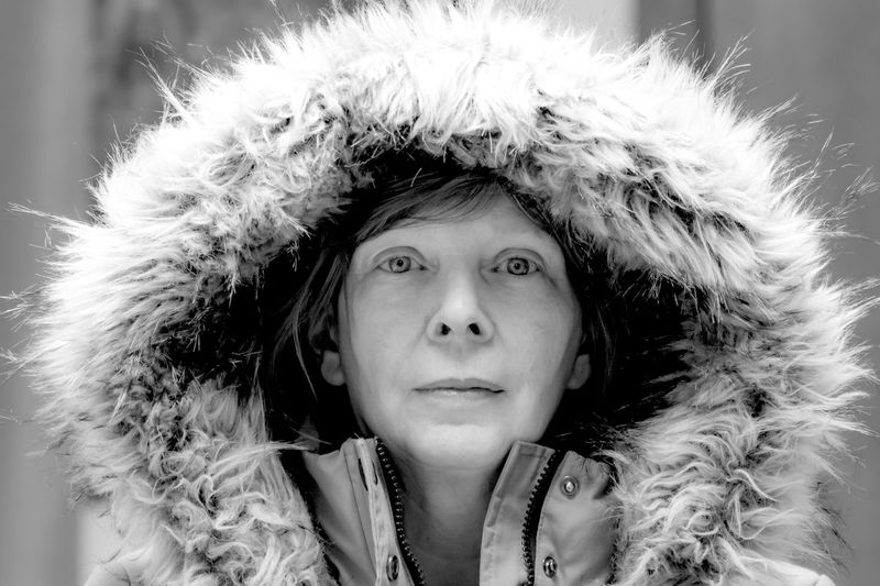 Portrait Headshot One Person Young Adult Women Winter Looking At Camera Fur Warm Clothing Beautiful Woman