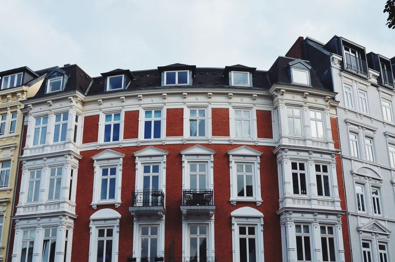 Buildings Architecture Building Exterior City Cultures Day Hamburg House Houses Mirror No People Outdoors Sky Urban Window Windows