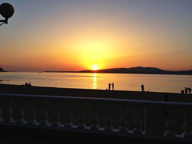 Relaxing Sea Sunset Enjoying Life