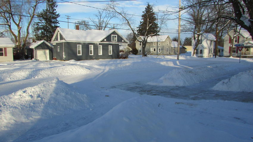 Taking Photos From My Porch Winter_collection Everyone Digging Out Piles Of Snow Sunny☀ Cadillac Michigan