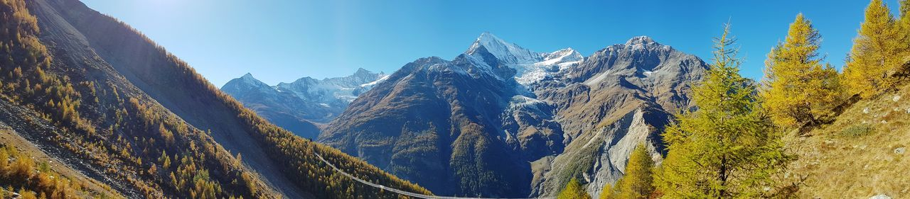 Mountain Switzerland Cervin Matterhorn  Randa Valais Panoramic Galaxys8 GalaxyS8+ Low Angle View Nature Outdoors No People Day Sky Beauty In Nature Matterhorn  Nature Low Angle View Perspectives On Nature EyeEmNewHere Be. Ready. Shades Of Winter