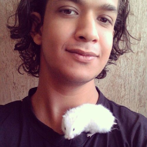 With Madame Venus FurryHamster Furry Fluffy White Cute chubby sweet lovely hamster pet rodent animals love petlove selfie animalslove
