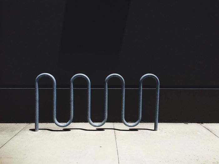Parking rack on sidewalk