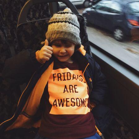 Have an awesome Friday / habt einen tollen Freitag! Friday Tgif TGIF! Freitag Awesome Boy Children Shirt
