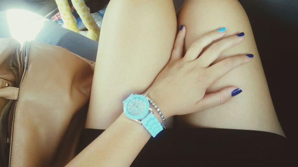 Orologio My Legs My Hand  Sitting In The Car