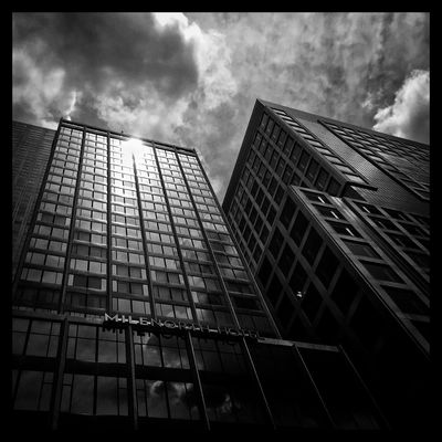 Here comes the sun. Clouds And Sky Blackandwhite I See Black And White Downtown Chicago Chicago Downtown Buildings Throughmyeyez Chicagostreets Windycity
