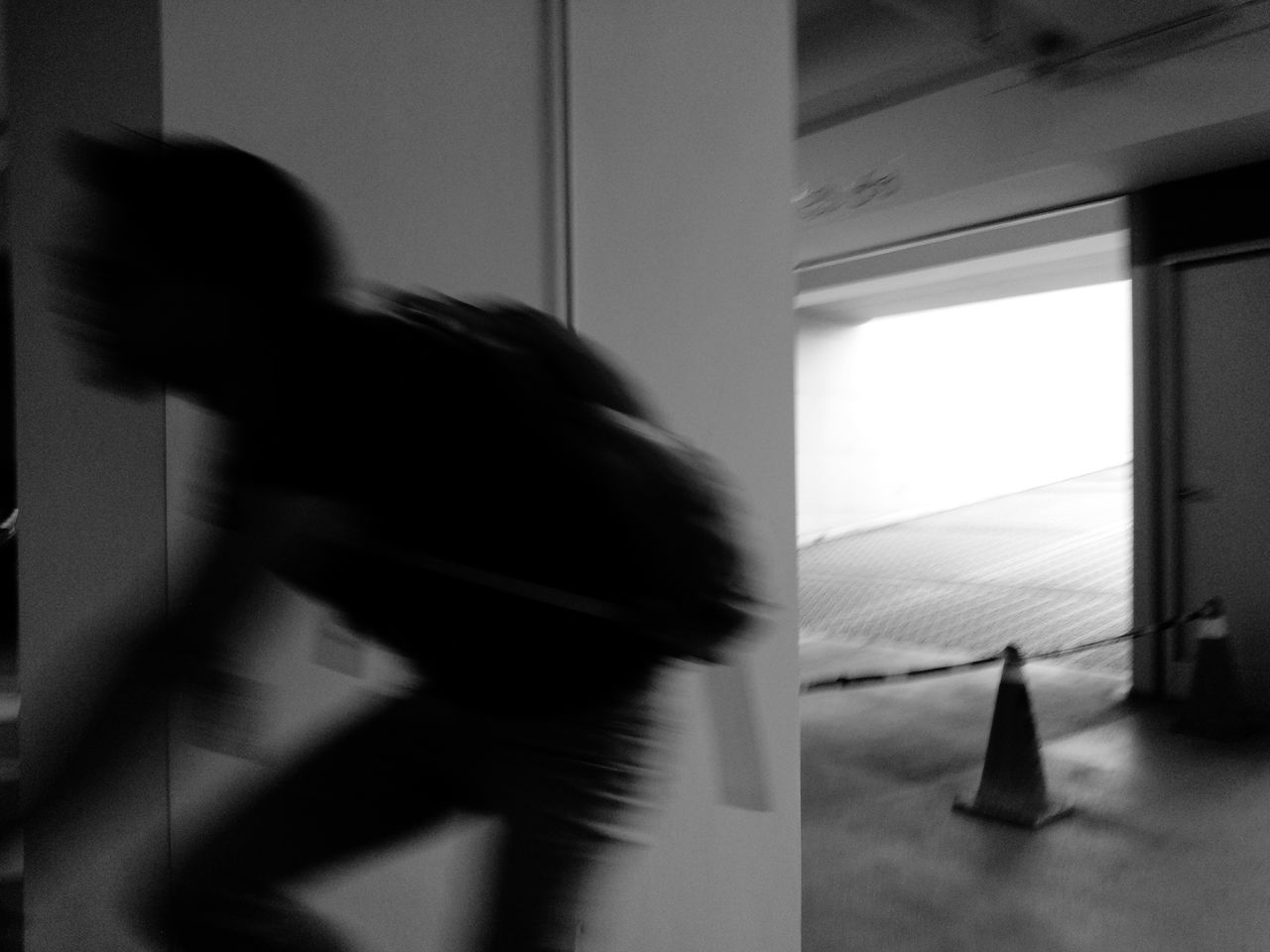 blurred motion, one person, indoors, motion, real people, women, day, one woman only, people