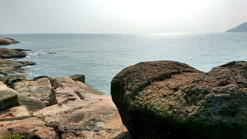 Sea Rock - Object Scenics Nature Beach Horizon Over Water Outdoors Landscape Day No People Beauty In Nature Nature Beauty In Nature Formation Of Nature Hong Kong Cheung Chau Rocks Tranquil Scene Textured  Cloud - Sky Waterfront