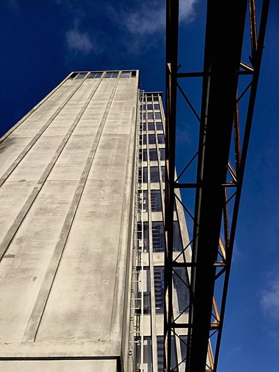 Grey Tower 01 Architecture Built Structure Window Building Exterior Sky Blue Modern Day Outdoors Tall - High No People industrial grey Deventer havenkwartier