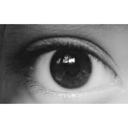 Late Post Pict Of me my eyes inkwell black white brown pupils eyelashes close up hijab girl lady selfcam morning