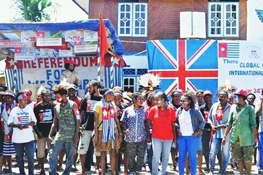 West Papua men. Large Group Of People Celebration Real People Patriotism Social Issues West Papua Politic Of Freedom West Papua Want To Free Of Indonesia Colonial. Papua Free Of Indonesia Colonial West Papua People
