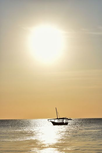 The Beauty of an Ending Water Sky Sea Beauty In Nature Horizon Over Water Scenics - Nature Nautical Vessel Sun Horizon Sunset Sunlight Transportation Silhouette Nature Tranquil Scene Tranquility Waterfront Reflection No People Outdoors Bright Sailboat Seetheworld  Travel