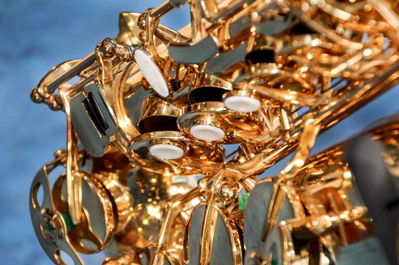 Detail Shot Of Saxophone