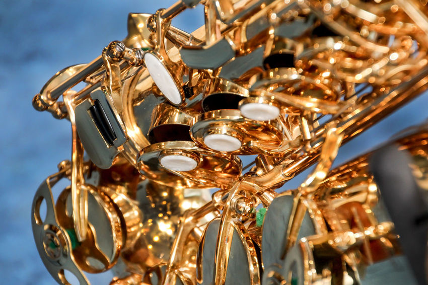 Abundance Close Up Close-up Detail Directly Above Indoors  Large Group Of Objects Metal Music Ornate Sax Saxophone Tone Tune