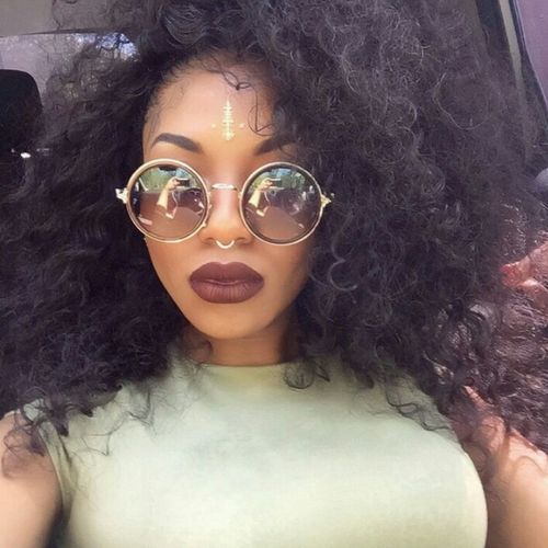 Makeup Eyebrows On Fleek Model Fashion Aesthetics Gorgeous Natrual Beauty  Natrualbeauty Naturalhair Natural Hair Curlyhair Curly Hair Longhair Long Hair Selfie ✌ Selfie✌ Septum Peircing Shades Bindi