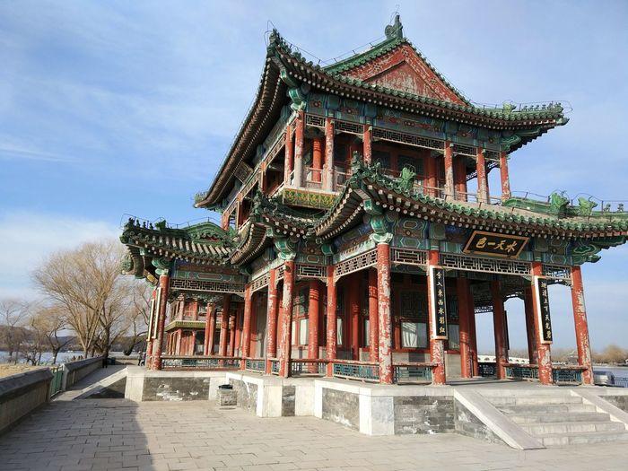 Temple against sky