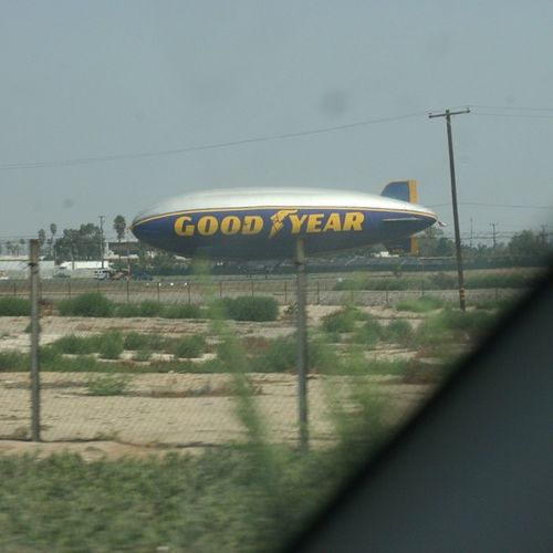 Look what I saw on my way to Scarela ... Goodyear Goodyearblimp Nofilter losangeles