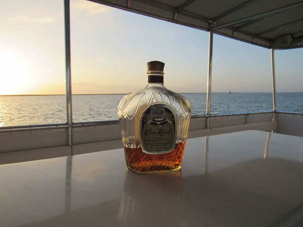 Crown Royal Control Crown Royal Gulf Of Mexico Liqror Mixed Drinks Ocean View On A Boat Party Time White Surfaces