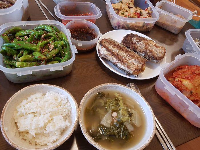 집밥 Korean Food EyeEm Selects Plate Variation High Angle View Dessert Bowl Sweet Food Close-up Food And Drink