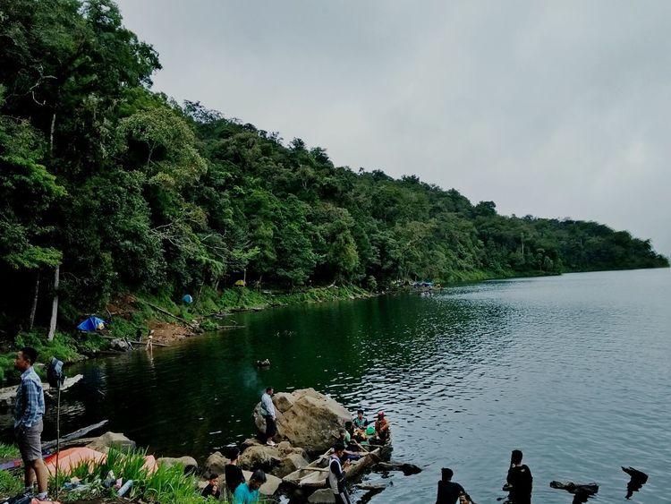 Miles Away Mountain Calderaview Caldera Lake Green Green Green!  Danaugunungtujuh Kerinci Indonesia Kerinci EyeEmNewHere