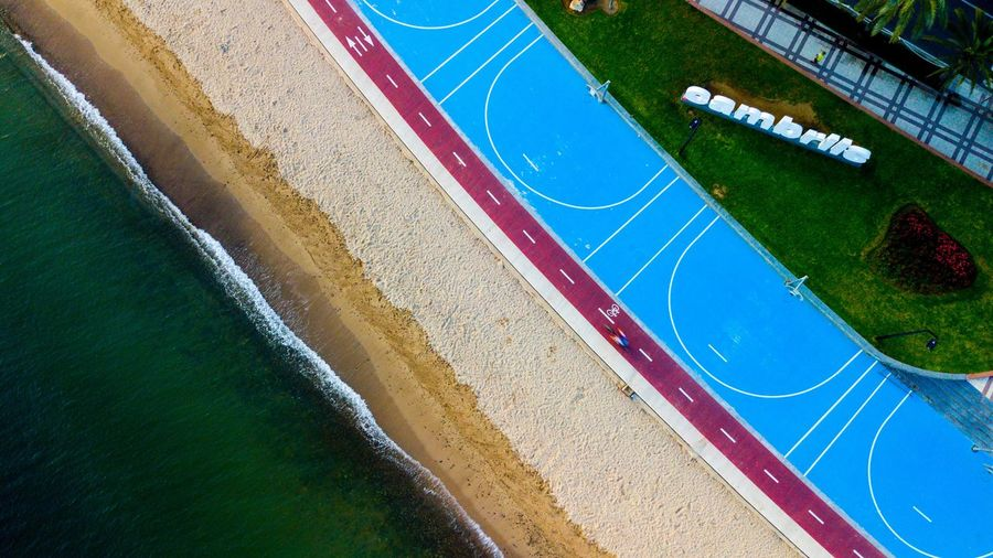 Holiday Sea Morning DJI Mavic Pro Dji Cambrils, Baix Camp, Province Of Tarragona Cambrils High Angle View Sport Day No People Road Sports Track Nature Water City