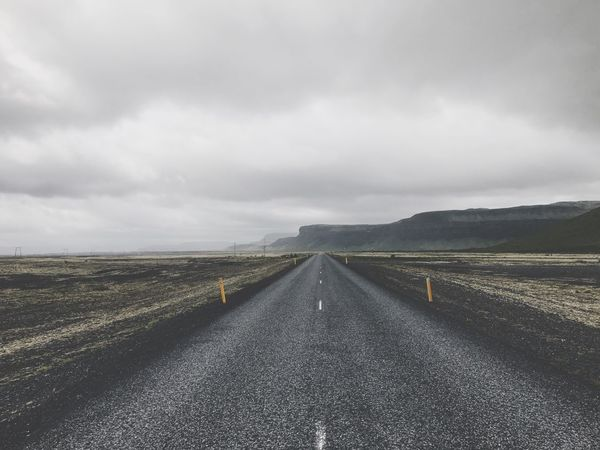 The Way Forward Road Landscape Sky Scenics Diminishing Perspective Transportation Nature Cloud - Sky Outdoors Tranquility Day Tranquil Scene Asphalt No People Beauty In Nature Rural Scene Iceland Icelandic Icelandtrip