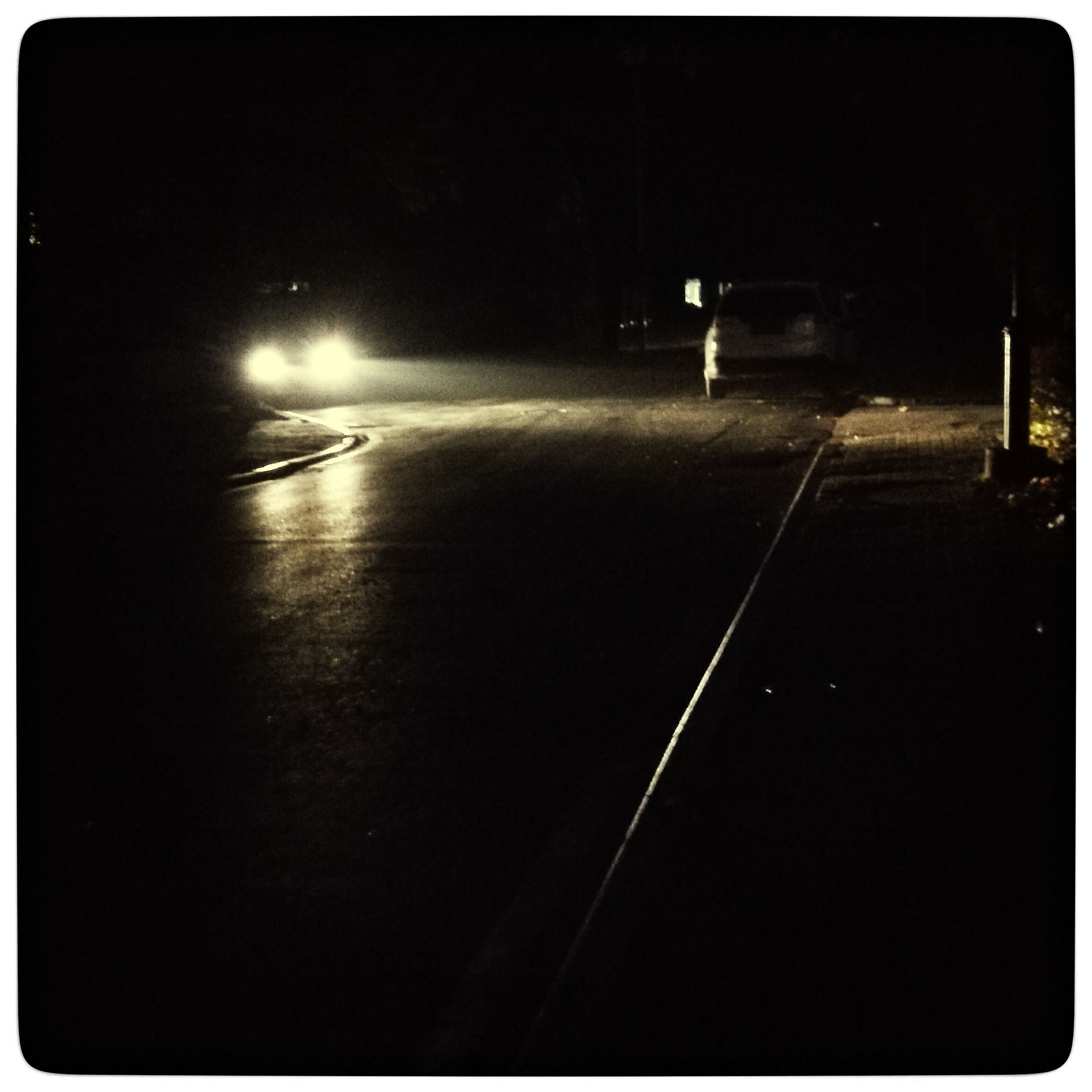 illuminated, night, transportation, road, no people, outdoors