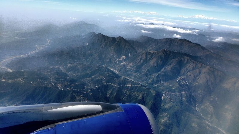 Last before approaching Kathmandu Beauty In Nature Mountain Landscape Kathmandu Flights Aircraft AirPlane ✈ Flying Home Flying Over Your Imagination