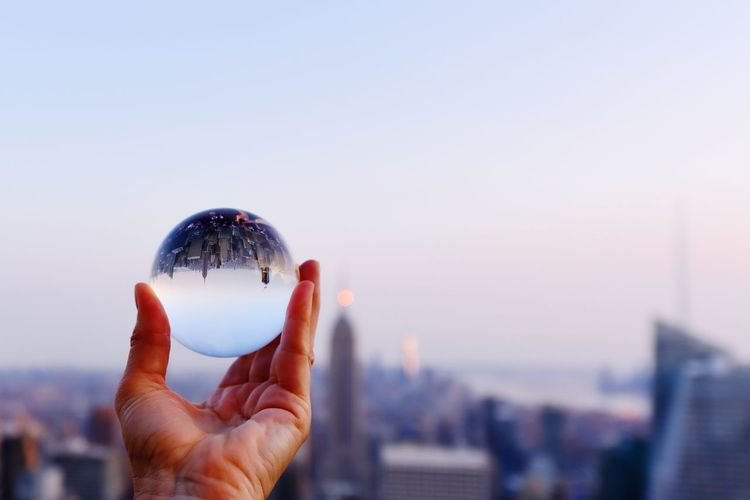 New york-seen through a glass ball