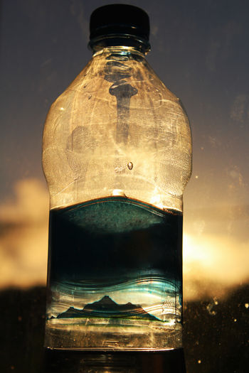 Bottle placed