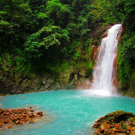They say this is where god washed his brushes after he painted the Sky😍😍 Rio Celeste Favorite Places Eye4photography  Adventure Girl ✌🙈🌊 Showcase July Costa Rica Central America Nature Photography Nature_collection Beautiful Traveling Outdoor Photography EyeEm Best Shots Blue Wave Rainforest Trees Costa Rica Y Su Naturaleza Travel Colour Of Life The Great Outdoors - 2017 EyeEm Awards