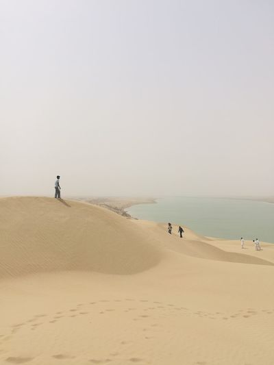 Sand Dune Clear Sky Sea Full Length Desert Beach Sand Sunset Wave Water