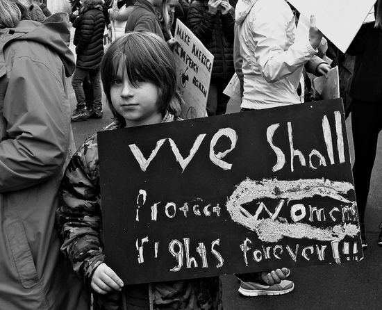 Kid with Sign, Washington, D.C. K Protest Street Photography Streetphoto_bw Streetphotography Washington, D.C. Women's March On Washington