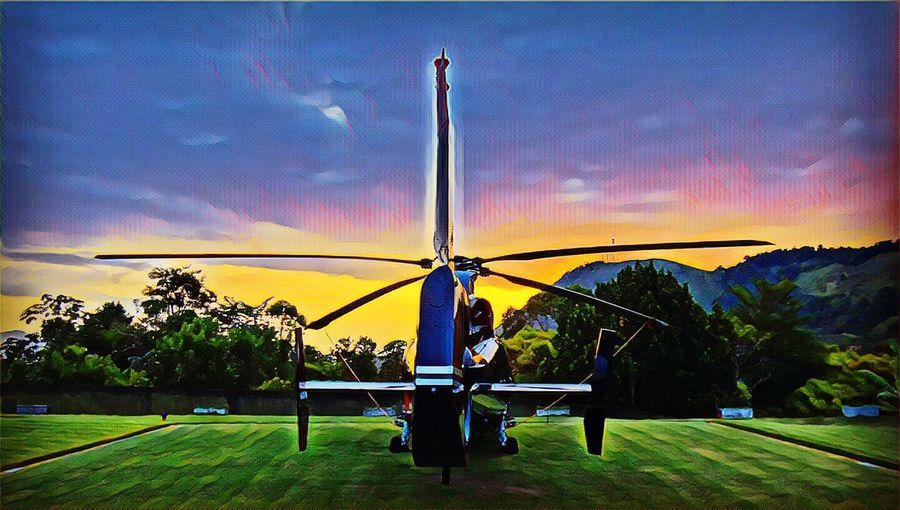Angra Dos Reis RJ BRASIL ☀️🇧🇷 Sky Sunset Nature Cloud - Sky No People Tree Grass Beauty In Nature Outdoors Day Helicopter EyeEm Team Eyeem Market EyeEm Gallery EyeEm