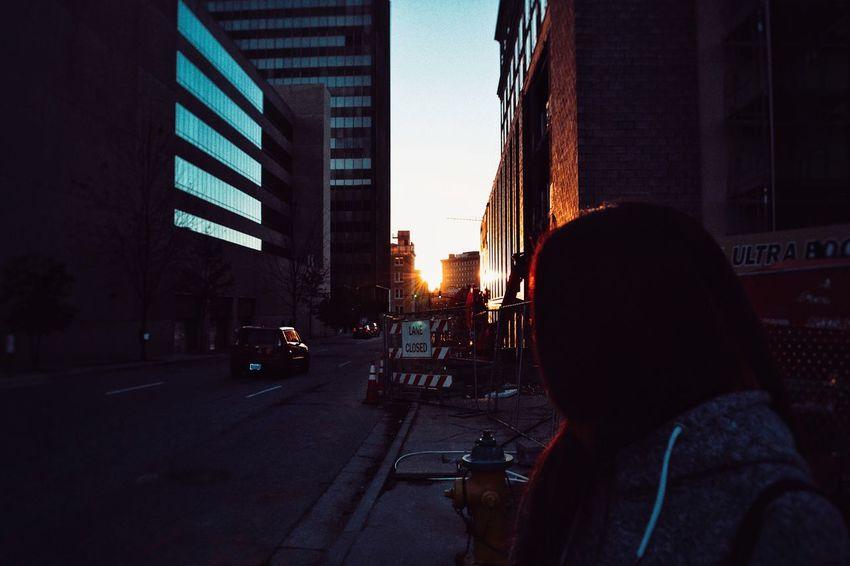 the beginning Sunset
