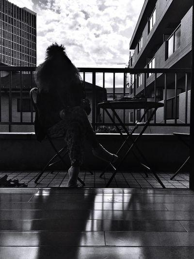 Relaxing Quality Time Blackandwhite Monochrome Street Photography Black And White Street Clouds Eye4black&white  Urban Geometry