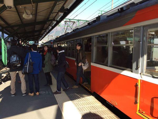 強羅駅に到着しました。