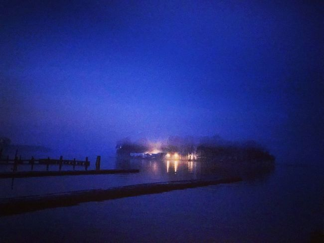 Water Night Illuminated Sea Sky Scenics - Nature Waterfront No People Nature Blue Reflection Tranquility Lighting Equipment Light Purple
