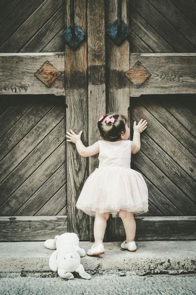 #babygirl #cute #Door #littlegirl #oneyear #swet Casual Clothing Day Full Length Outdoors Person Plank Wooden