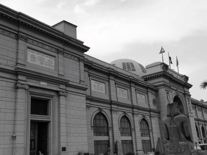 Museum Building Exterior Architecture Monochrome Photography Monochrome Photography Statue Blackandwhite Egyptphotography Heritage