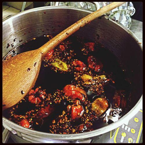 Home made chilli oil