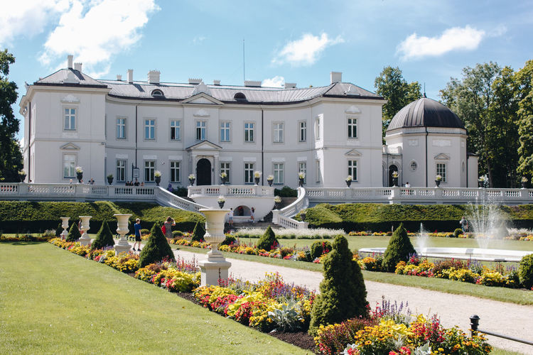 Amber Lietuva Lithuania Architecture Building Building Exterior Built Structure Cloud - Sky Day Flower Flowering Plant Formal Garden Garden Grass Incidental People Museum Nature Outdoors Palace Palanga Plant Sky Sunlight Tree Water