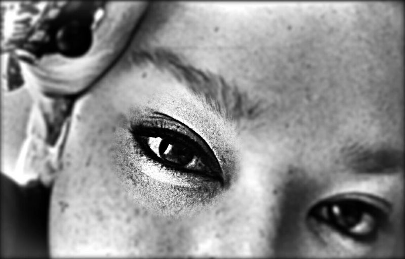 "...L'essentiel est invisible pour les yeux"" Eyes Open Your Eyes For Amnesty InternationalSelf Portrait Eyem Bnw"