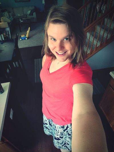Just a little me :-* Selfportrait One Woman Only One Person Smiling Adult Portrait Indoors  Happiness Selfiesunday Skirt Transgender