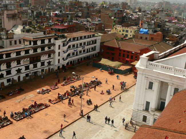 Kathmandu Durbar Square seen from high point of view Adult Adults Only Architecture Building Exterior Built Structure City City Life Crowd Day Durbar Square High Angle View Kathmandu Kathmandu Durbar Square Kathmandu, Nepal Large Group Of People Men Outdoors People Real People Travel Destinations Women Place Of Worship Residential