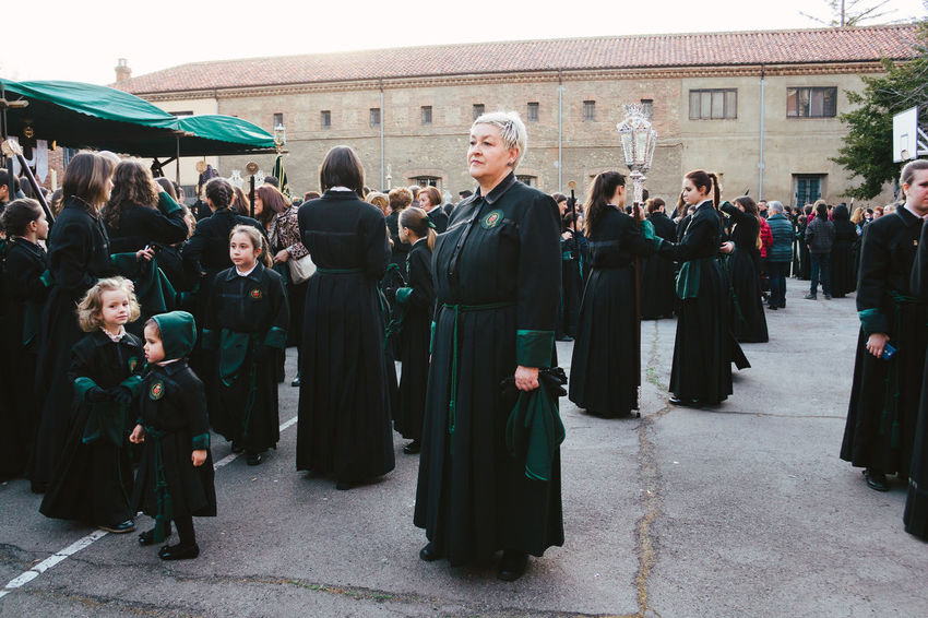 Semana Santa 2016, León. Black City Life Easter Ready Full Length Holy Week JuevesSanto Lifestyles Medium Group Of People Mixed Age Range Outdoors Person Semana Santa SPAIN Standing Togetherness Tradition Traditional Culture Woman Women Women Around The World
