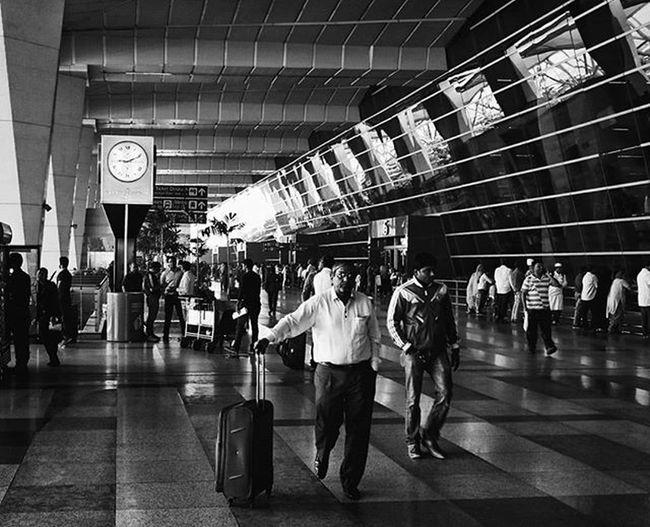 I have a strange liking for airports I don't know why . . . . . . . . . . . Delhite Delhi_igers Sodelhi Igi Delhiairport DelhiGram Delhi6 Photographersofdelhi India Hipster Street Streetphotography Streetphotographyindia India Indiaclicks Indianphotography Photographers_of_india Bw Bnw Blackandwhite Airport People Art