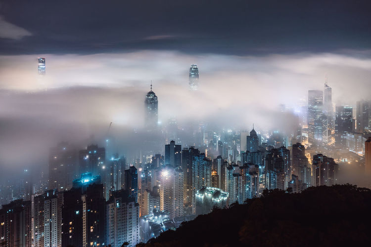 Architecture Building Exterior Built Structure City City Life Cityscape Cloud - Sky Famous Place Financial District  Hong Kong HongKong International Landmark Modern Night Nightphotography No People Office Building Outdoors Sky Skyscraper Tall Tall - High Tourism Tower Urban Skyline