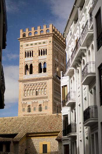 SPAIN Teruel Architecture Building Exterior Built Structure Day Low Angle View Medival Mudejar Art Mudéjar Mudéjar Style No People Outdoors Sky