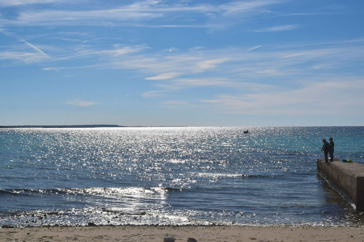 Aspettando. Waiting for... Horizon Over Water Sea Beach Sky Scenics Beauty In Nature Countryside Hiking_walking Torrelapillo Salento Puglia